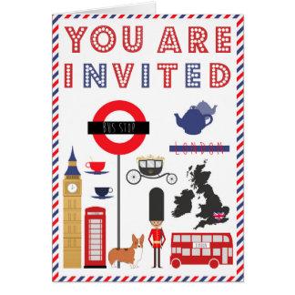 Kaart van de Uitnodiging van de Reis van Londen