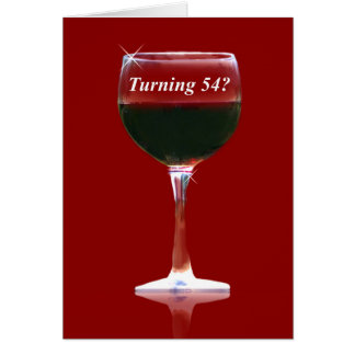 kaart van de Verjaardag van de 54ste Wijn de