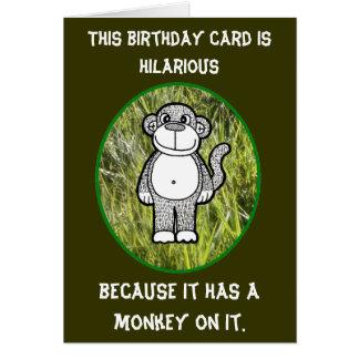 Kaart van de Verjaardag van de aap de Dolkomische