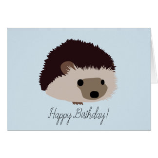 Kaart van de Verjaardag van de egel de Gelukkige