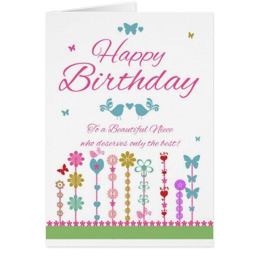 Kaart Van De Verjaardag Van De Nicht De Mooie Met Zazzle