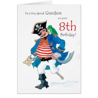 Kaart van de Verjaardag van de Piraat van de pret