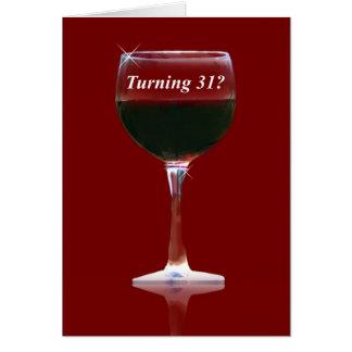 Kaart van de Verjaardag van de wijn de Gelukkige