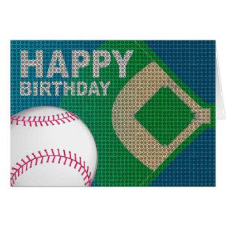 Kaart van de Verjaardag van het honkbal de