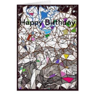 Kaart van de Verjaardag van het Mozaïek van