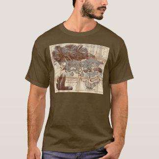 Kaart van de Verkenning van Meer vintage 1879 de T Shirt