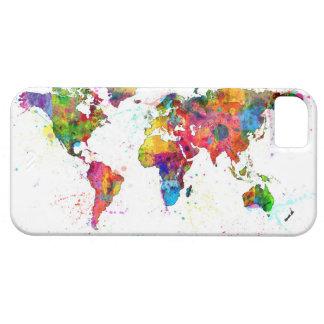 Kaart van de Waterverf van de Kaart van de Wereld Barely There iPhone 5 Hoesje