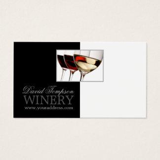 Kaart van de Wijnmakerij van Sommelier van de Visitekaartjes