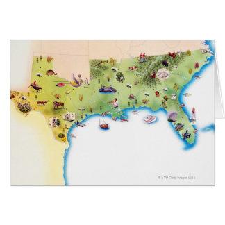 Kaart van de Zuidelijke Verenigde Staten van