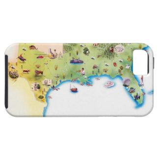 Kaart van de Zuidelijke Verenigde Staten van Ameri iPhone 5 Covers