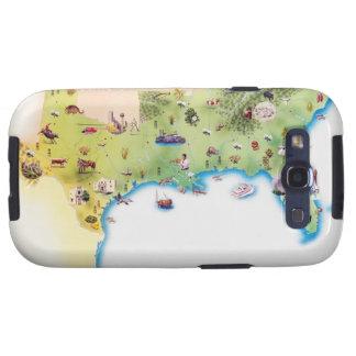 Kaart van de Zuidelijke Verenigde Staten van Ameri Samsung Galaxy S3 Cases