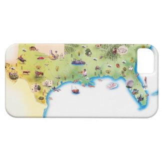 Kaart van de Zuidelijke Verenigde Staten van Barely There iPhone 5 Hoesje
