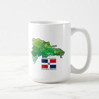 Kaart van Dominicaanse Republiek Koffiemok