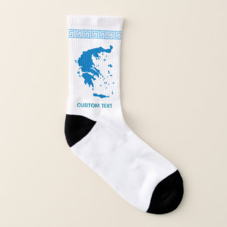 Kaart van Griekenland Sokken