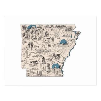 Kaart van het Afbeelding van Arkansas de Vintage