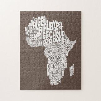 Kaart van het Art. van de Tekst van de Kaart van Puzzel