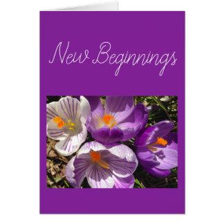 Kaart van het Begin van de Krokus van de lente de