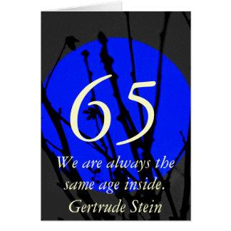 kaart van het Citaat van de 65ste Verjaardag de
