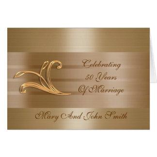 kaart van het de 50Th uitnodigings de gouden