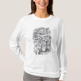 Kaart van het Eiland Utopie, de frontispice van T Shirt