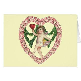 Kaart van het Hart van de vintage Cherubijn de