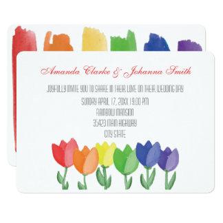 Kaart van het Huwelijk van de BLOEM van de 12,7x17,8 Uitnodiging Kaart