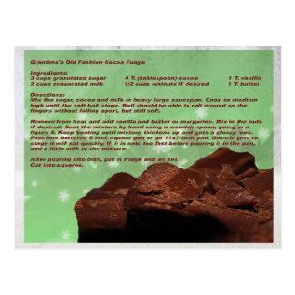 Kaart van het Recept van de Zachte toffee van de Briefkaart