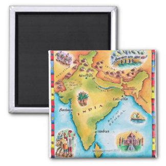 Kaart van India Magneten