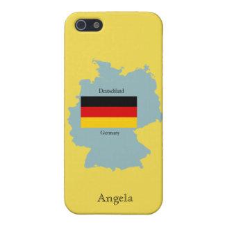 Kaart van iPhone 4 van Duitsland het Hoesje van iPhone 5 Cover