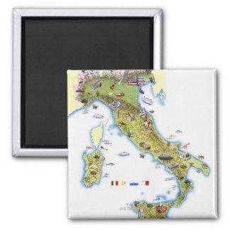 Kaart van Italië Koelkast Magneetjes