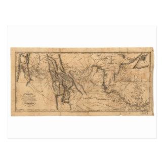 Kaart van Lewis & Clark over Western Amerika 1814