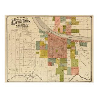 Kaart van Little Rock en Argenta, Arkansas (1888)