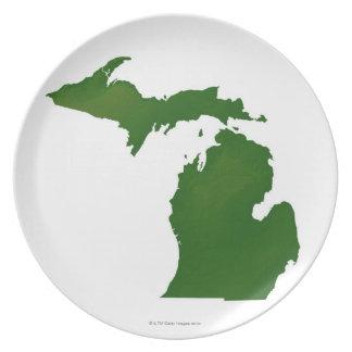 Kaart van Michigan Bord