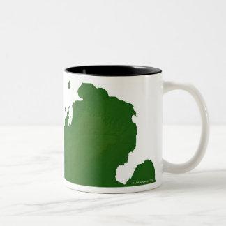Kaart van Michigan Tweekleurige Koffiemok