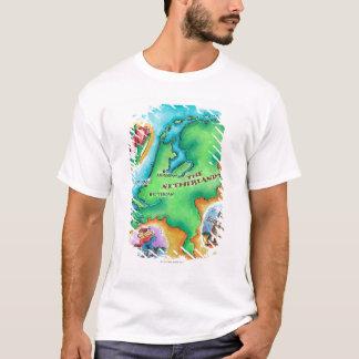 Kaart van Nederland T Shirt
