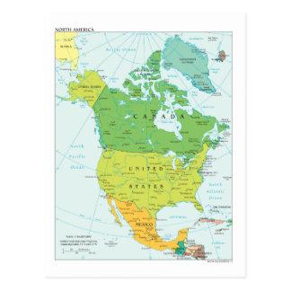 Kaart van Noord-Amerika Briefkaart