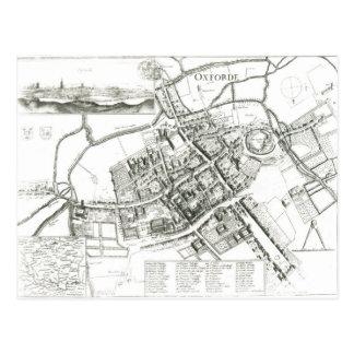 Kaart van Oxford, 1643