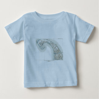 Kaart van Provincetown Cape Cod Massachusetts Baby T Shirts