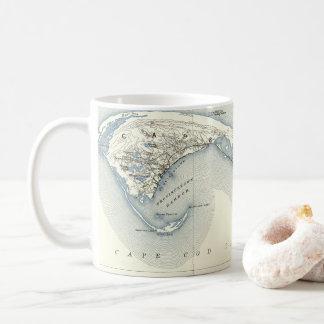Kaart van Provincetown Cape Cod Massachusetts Koffiemok