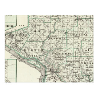 Kaart van Provincie Randolph, Rood Knop en Chester