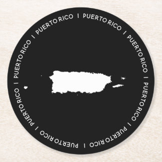 Kaart van Puerto Rico Ronde Onderzetter