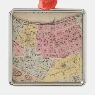 Kaart van Rode Vleugel, Goodhue Provincie, Zilverkleurig Vierkant Ornament