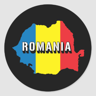 Kaart van Roemenië Ronde Sticker