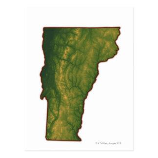 Kaart van Vermont Briefkaart