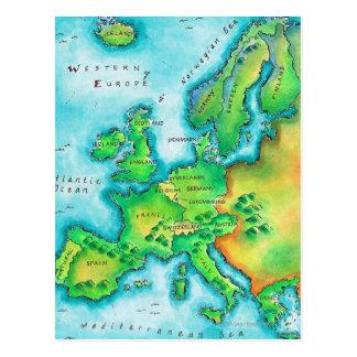 Kaart van Western Europa