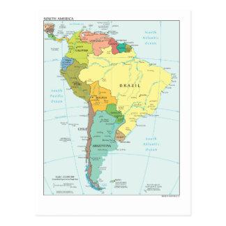 Kaart van Zuid-Amerika Briefkaart