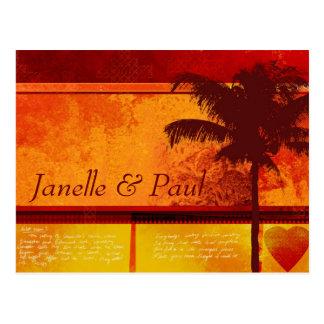Kaarten van de Palm van de douane de Tropische