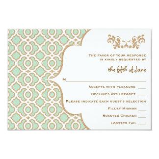 Kaarten van de Reactie van het Huwelijk van de 8,9x12,7 Uitnodiging Kaart