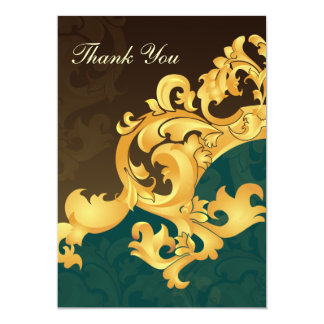 kaarten van het aqua de gouden huwelijk dank u persoonlijke aankondigingen