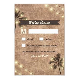 Kaarten van het Huwelijk RSVP van het Strand van 8,9x12,7 Uitnodiging Kaart